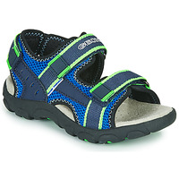 Shoes Boy Outdoor sandals Geox JR SANDAL STRADA Blue / Green