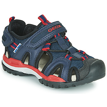Shoes Boy Outdoor sandals Geox BOREALIS BOY Marine / Red