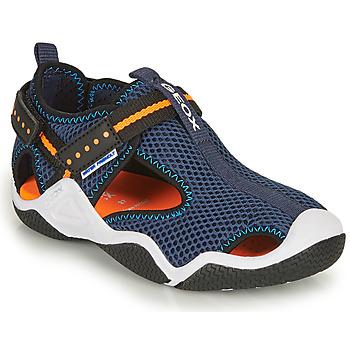 Shoes Boy Outdoor sandals Geox JR WADER Marine / Orange