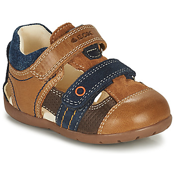 Shoes Boy Sandals Geox KAYTAN Brown / Marine
