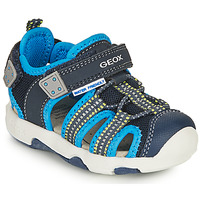 Shoes Boy Outdoor sandals Geox SANDAL MULTY BOY Blue