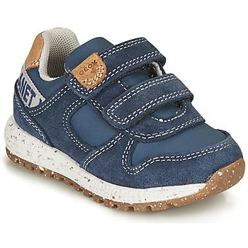 Shoes Boy Low top trainers Geox ALBEN BOY Blue / Brown