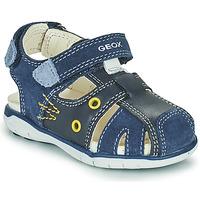 Shoes Boy Sandals Geox SANDAL DELHI BOY Marine