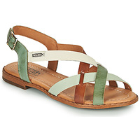 Shoes Women Sandals Pikolinos ALGAR W0X Brown / Green