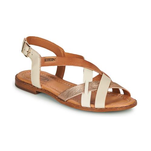 Shoes Women Sandals Pikolinos ALGAR W0X White / Pink / Gold