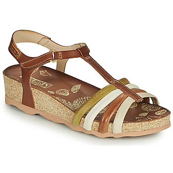 Shoes Women Sandals Pikolinos MAHON W9E Brown / White