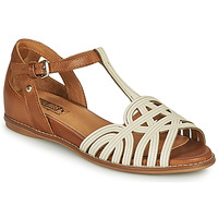 Shoes Women Sandals Pikolinos TALAVERA W3D White / Brown