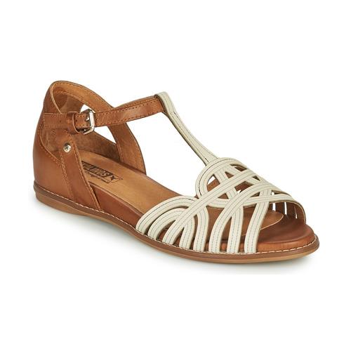 Shoes Women Sandals Pikolinos TALAVERA W3D White / Brown