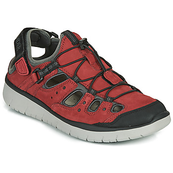 Shoes Men Outdoor sandals Allrounder by Mephisto MAROON Red