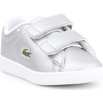 Shoes Children Low top trainers Lacoste Carnaby EVO 317 6 SPI 7-34SPI0006334 silver