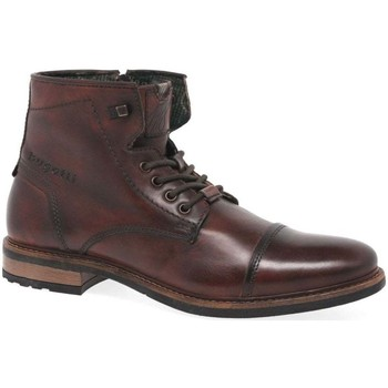 Shoes Men Mid boots Bugatti Canada Mens Leather Boots brown