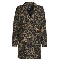 Clothing Women Jackets Deeluxe LEA Brown / Black