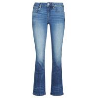 Clothing Women Bootcut jeans G-Star Raw 3301 Mid Skinny Bootcut Wmn Medium / Indigo / Aged