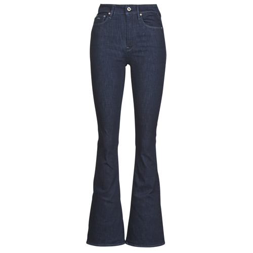 Clothing Women Bootcut jeans G-Star Raw 3301 High Flare Wmn Rinsed
