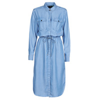 Clothing Women Long Dresses G-Star Raw Rovic maxi shirt dress ls Lt / Aged