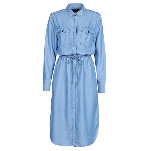 Clothing Women Long Dresses G-Star Raw Rovic maxi shirt dress ls Lt / Aged