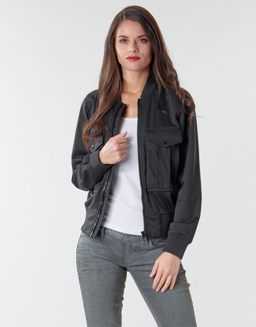 Clothing Women Jackets / Blazers G-Star Raw Rovic aviator bomber wmn Dk /  black / Dk /  black