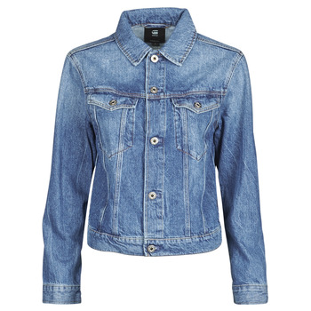 Clothing Women Denim jackets G-Star Raw 3301 Straight Dnm Jkt Wmn Faded / Shore
