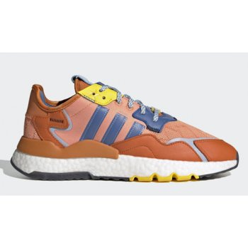 Shoes Hi top trainers adidas Originals Ninja x adidas Nite Jogger ?Time In? Amber Tint/Orange-Trace Royal