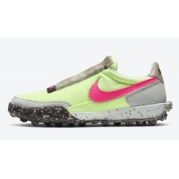 Shoes Hi top trainers Nike Waffle Racer Crater WMNS ?Barely Volt? Barely Volt/Pink Blast-Black