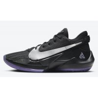 Shoes Hi top trainers Nike Zoom Freak 2 ?Dusty Amethyst? Black/Metallic Silver-Dusty Amethyst