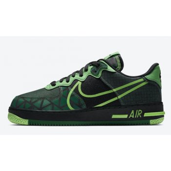Shoes Hi top trainers Nike Air Force 1 React ?Naija? Black/Pine Green-Green Strike