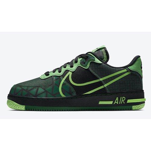 Shoes Hi top trainers Nike Air Force 1 React ?Naija? Black/Pine Green-Green Strike