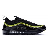 Shoes Hi top trainers Nike Undefeated x Nike Air Max 97 Black/Volt-Militia Green-White