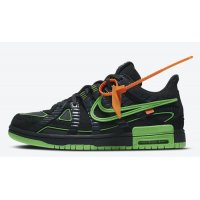 Shoes Hi top trainers Nike Off-White x Nike Air Rubber Dunk ?Green Strike? Black/White-Green Strike