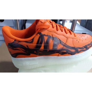 Shoes Hi top trainers Nike Air Force 1 Skeleton Brilliant Orange/Black/Brilliant Orange