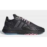 Shoes Hi top trainers adidas Originals Ninja x adidas Nite Jogger ?Time In? Core Black/Grey-Blue Glow
