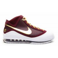 Shoes Hi top trainers Nike LeBron 7 ?CTK? Deep Maroon/Metallic Gold-White