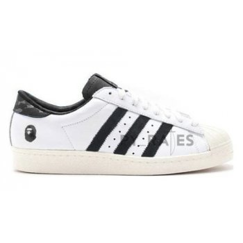 Shoes Hi top trainers adidas Originals Bape x adidas Superstar Footwear White/Core Black-Off-White