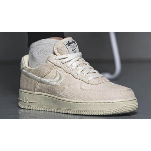 Shoes Hi top trainers Nike Stussy x Nike Air Force 1 Low Fossil Stone/Fossil Stone