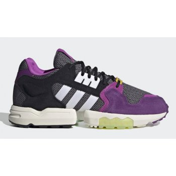 Shoes Hi top trainers adidas Originals Ninja x adidas ZX Torsion ?Time In? Grey Two/Cloud White-Glory Purple