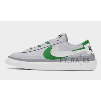 Shoes Hi top trainers Nike Sacai x Nike Blazer Low Medium Grey/Classic Green-White