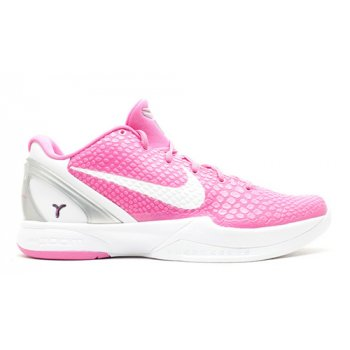 Shoes Hi top trainers Nike Kobe 6 Protro ?Think Pink? Pinkfire/Metallic Silver-White