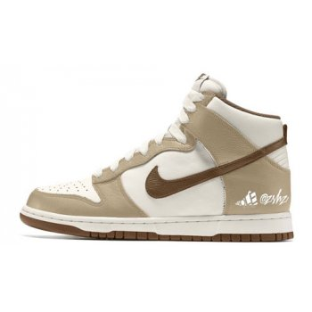 Shoes Hi top trainers Nike Dunk High Premium ? ?Sail/Khaki-Light Chocolate-Sail?