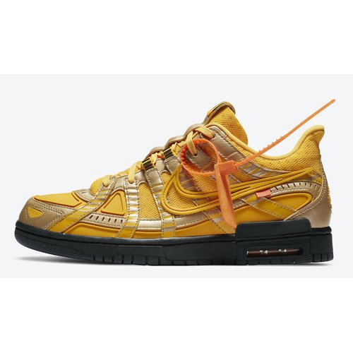 Shoes Hi top trainers Nike Off-White x Nike Air Rubber Dunk ?University Gold? University Gold/University Gold-Black