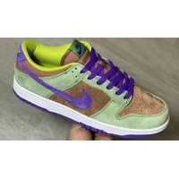 Shoes Hi top trainers Nike Dunk Low SP ?Veneer? Veneer/Autumn Green-Deep Purple