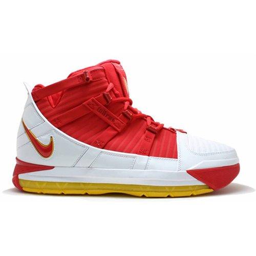 Shoes Hi top trainers Nike LeBron 3 ?Fairfax? White/Amarillo-University Red