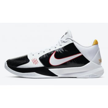 Shoes Hi top trainers Nike Kobe 5 Protro ?Alternate Bruce Lee? White/Black-Comet Red-White