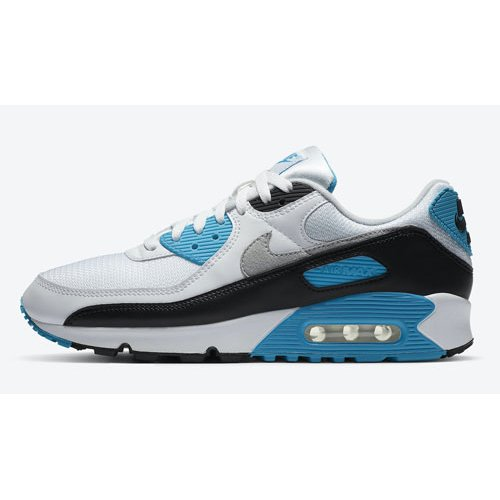 Shoes Hi top trainers Nike Air Max 90 ?Laser Blue? White/Black-Grey Fog-Laser Blue
