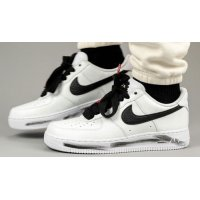 Shoes Hi top trainers Nike PEACEMINUSONE x Nike Air Force 1 ?Para-Noise 2.0? White/Black-White