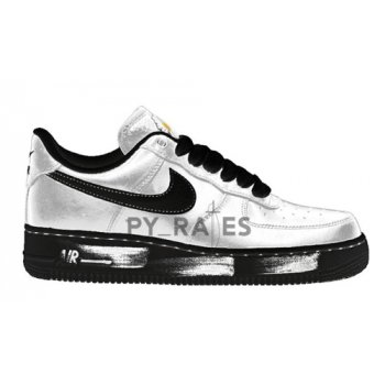 Shoes Hi top trainers Nike PEACEMINUSONE x Nike Air Force 1 ?Para-noise? White/Black-White