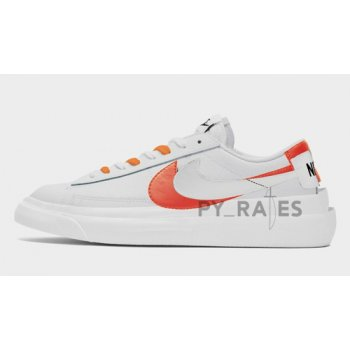 Shoes Hi top trainers Nike Sacai x Nike Blazer Low White/Magma Orange-White