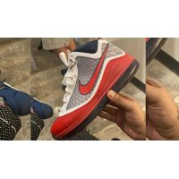 Shoes Hi top trainers Nike LeBron 7 ?USA? White/Rush Blue-University Red-White