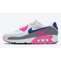 Shoes Hi top trainers Nike Air Max 90 WMNS ?Concord? White/Vast Grey-Concord-Pink Blast