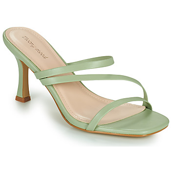 Shoes Women Mules Moony Mood OBIUTI Green / Almond