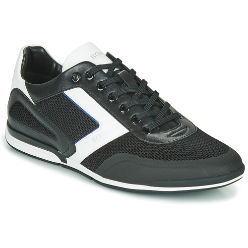 Shoes Men Low top trainers BOSS SATURN LOWP ME Black